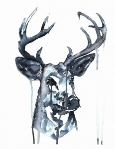 Whitetailed Deer. Ink