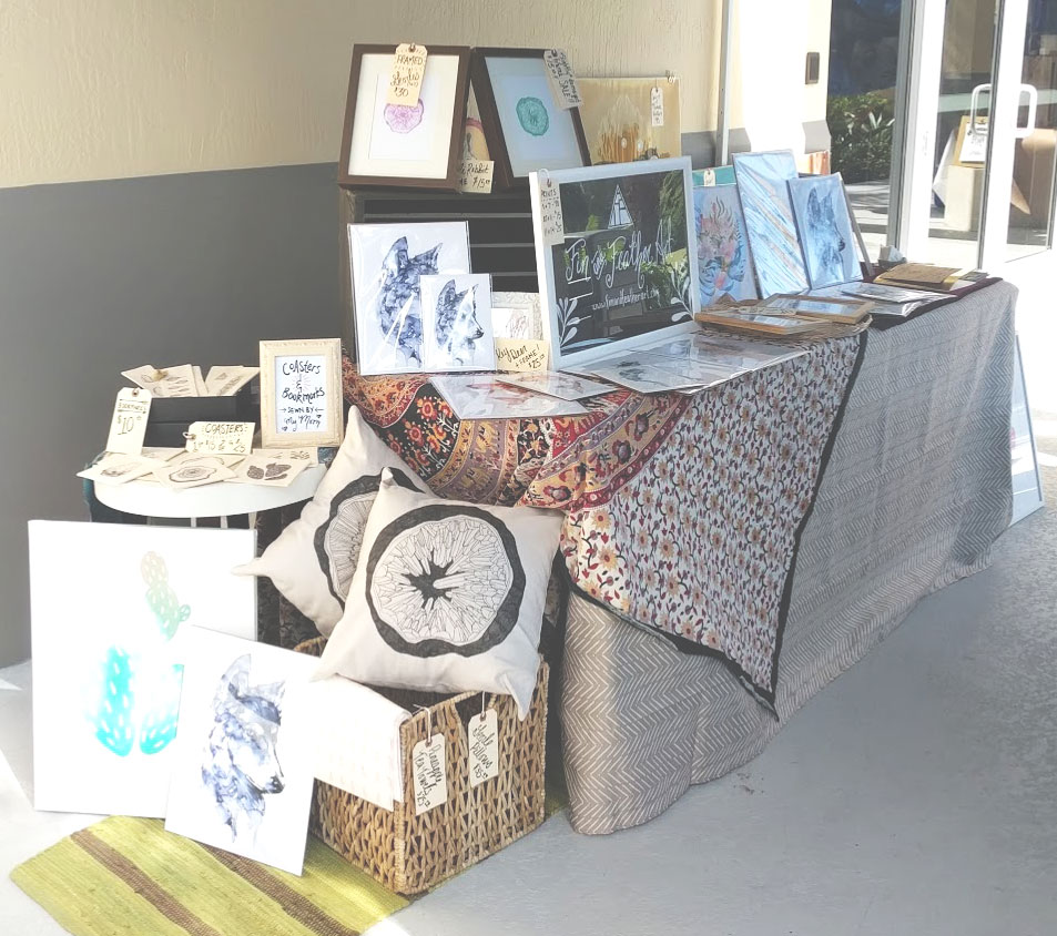 Fin and Feather Art Full Booth