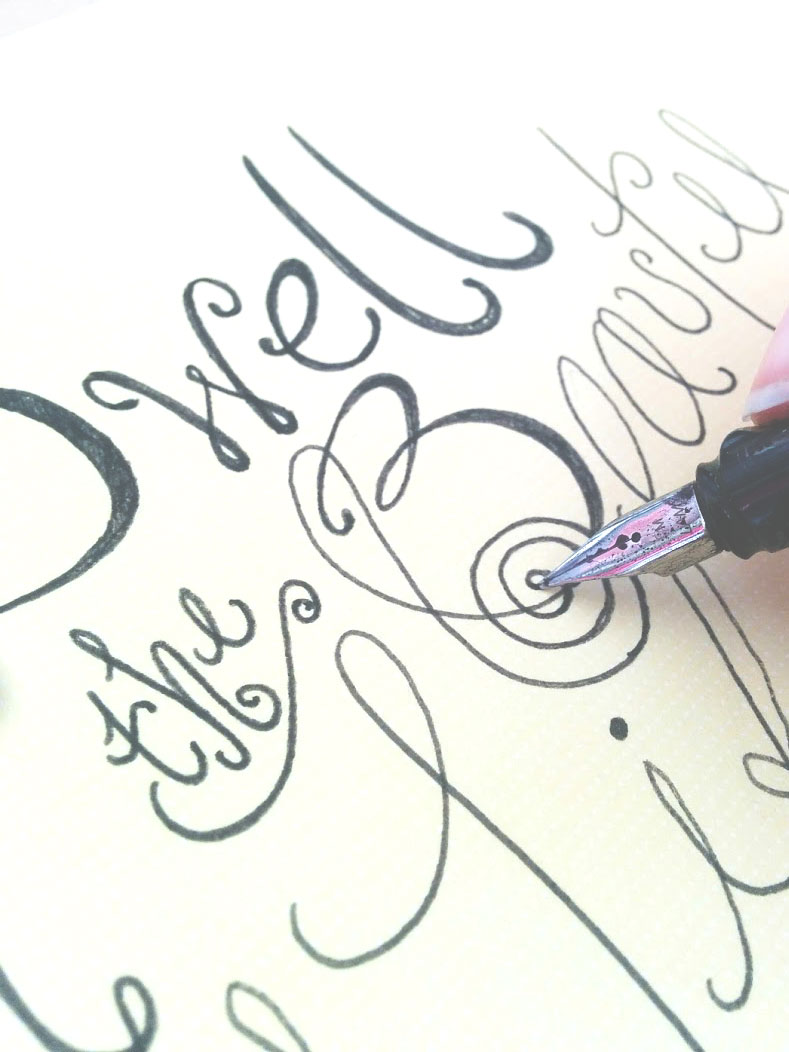 handlettered text by fin and feather art