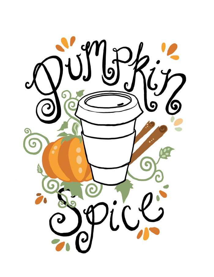 Free Pumpkin Spice Illustration by Fin and Feather Art