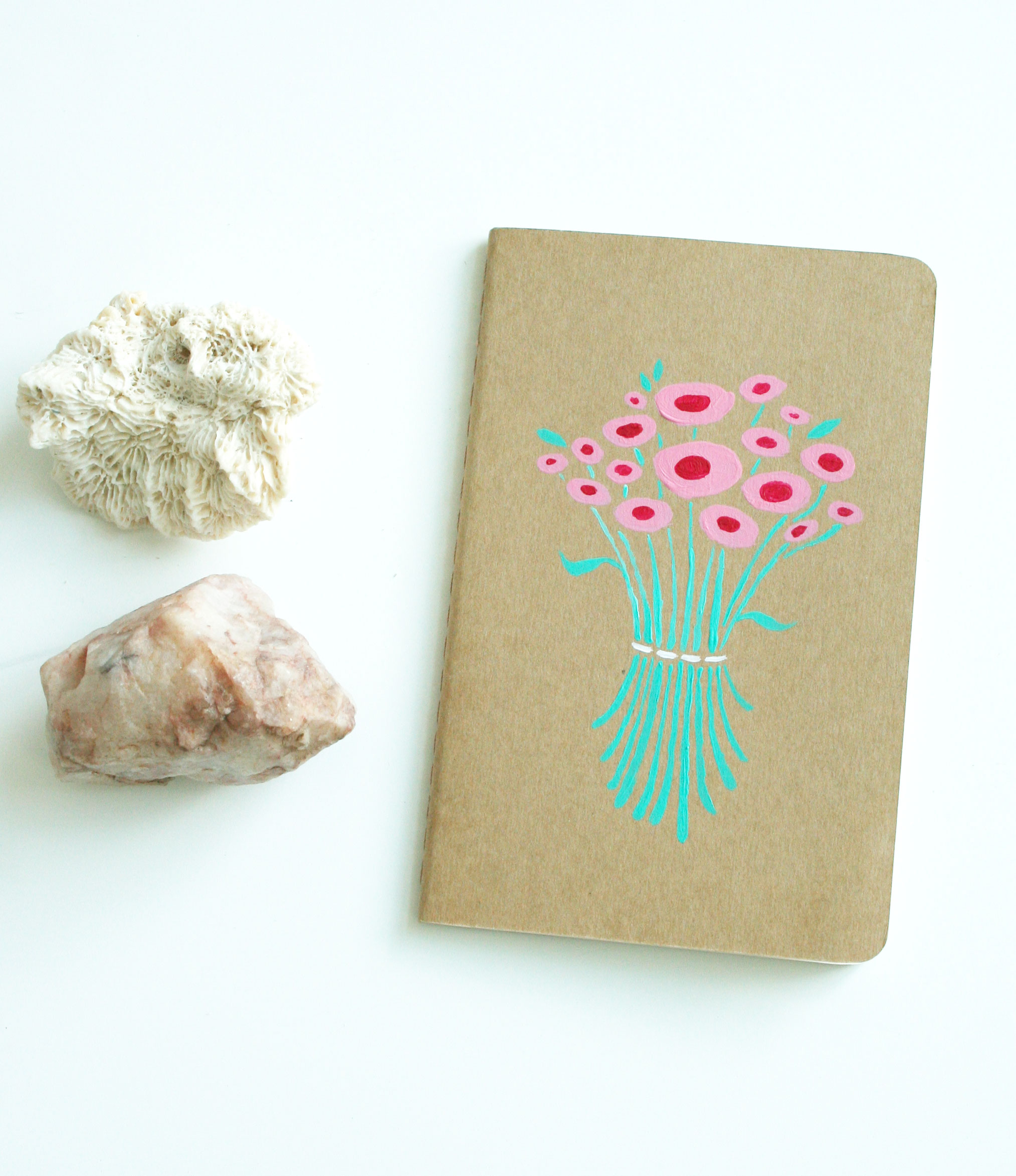 Finished Flower Journal by Fin and feather Art