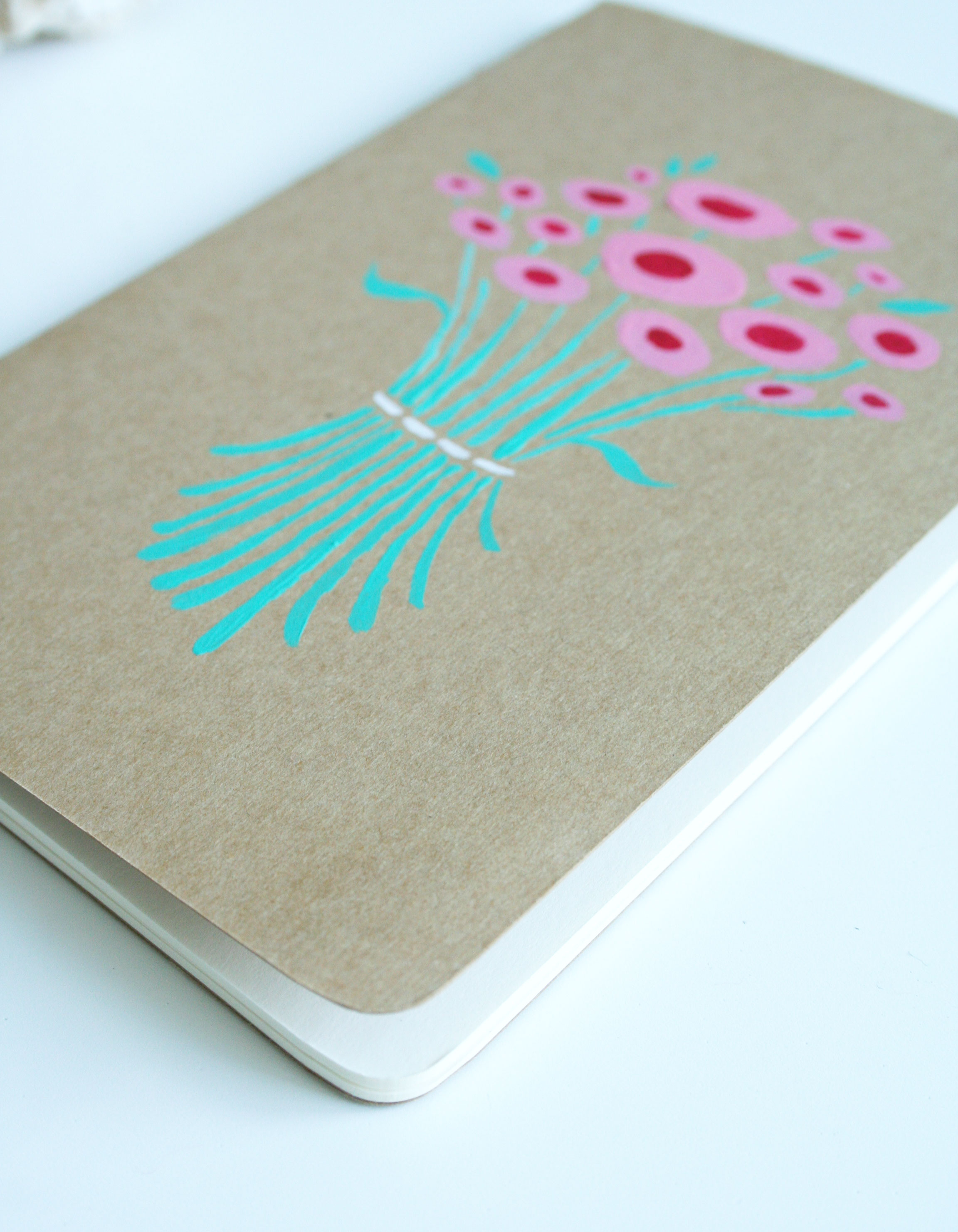 Pages - Blank flower journal by Fin and feather art
