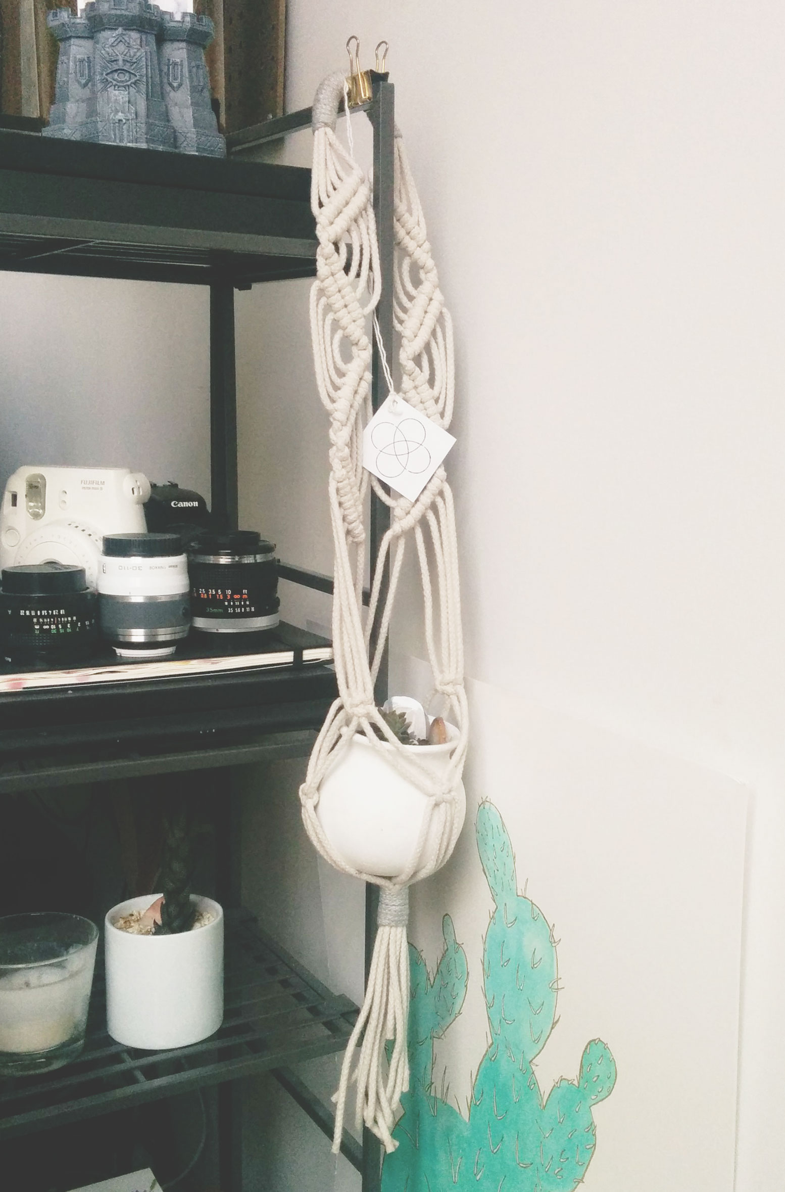 Knotty Bloom's macrame hanger