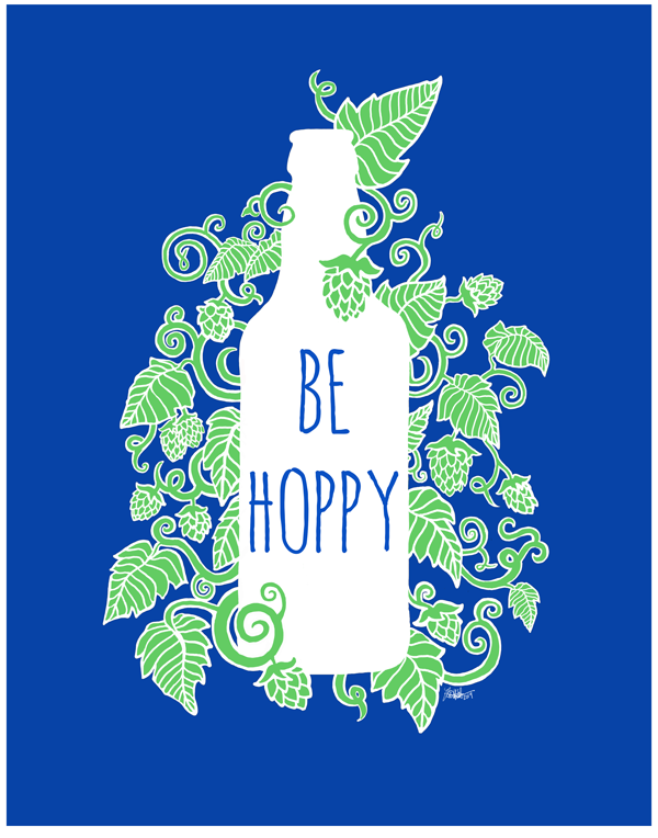 craft beer poster by fin and feather art