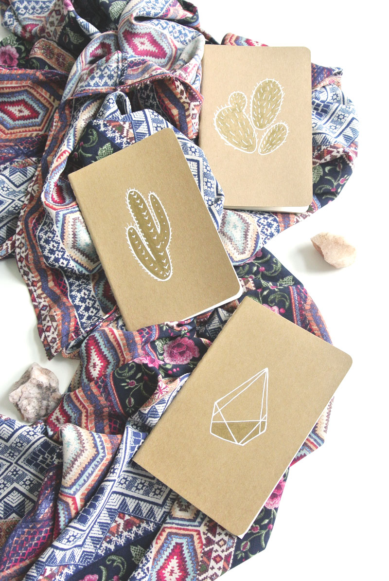 illustrated journals by fin and feather art
