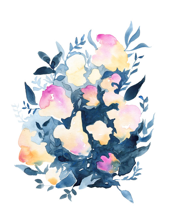floral watercolor by Fin and Feather Art