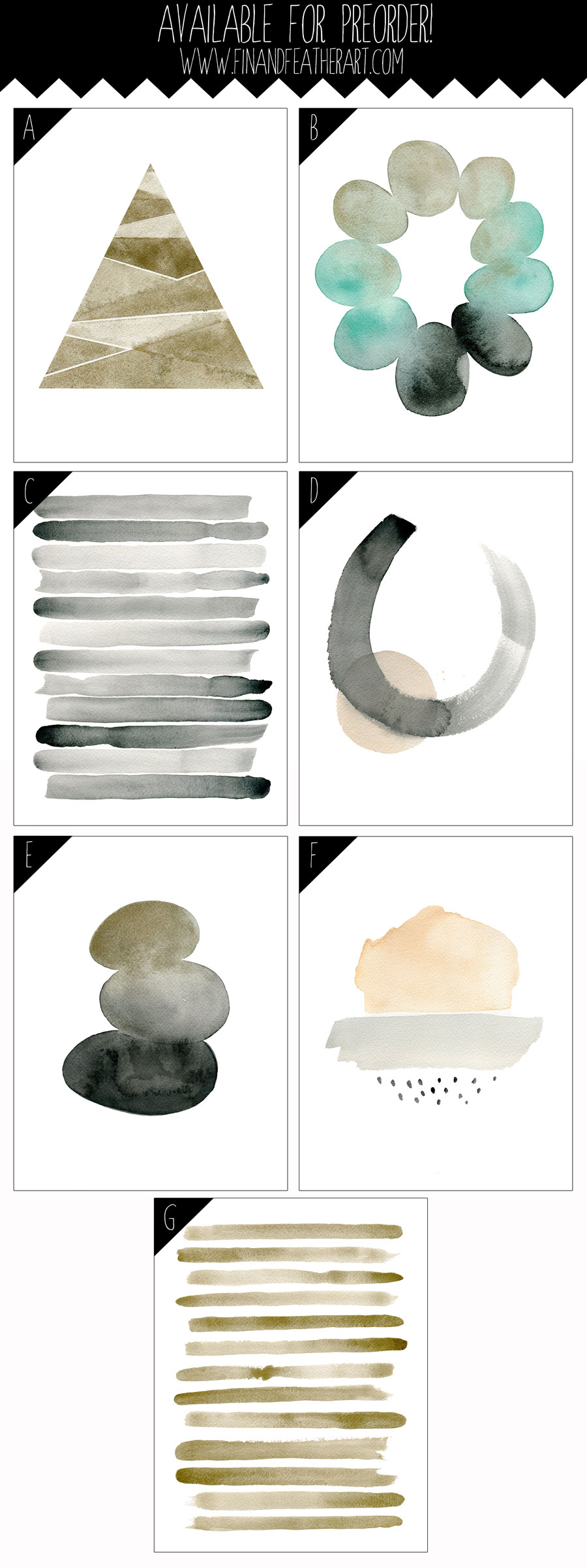 Watercolor Abstracts available for Pre-Order!