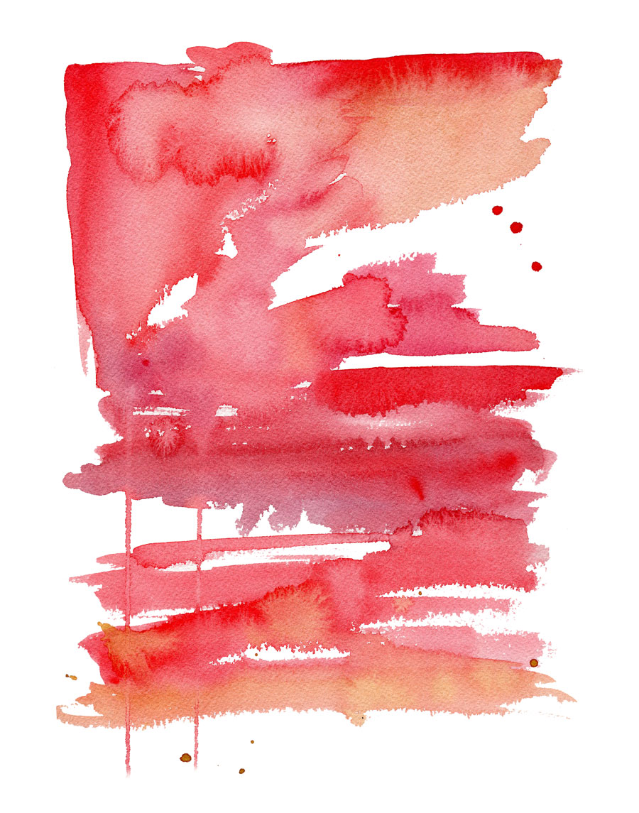 Red Abstract Watercolor