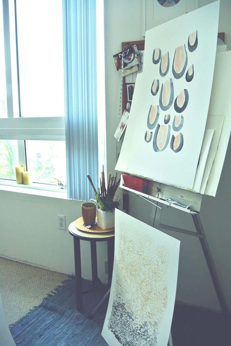 Ellen Schebor Sherman's studio